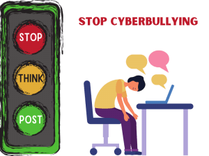 Stop cyberbullying graphic